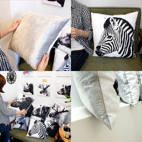 Animal side face for Cushion Zebra(シマウマ・クッション)