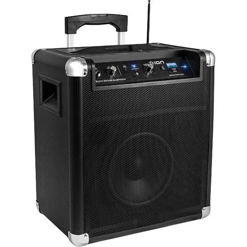 ion audio block rocker bluetooth portable speaker system with wireless technology. Black Bedroom Furniture Sets. Home Design Ideas