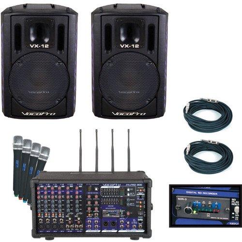 ボコプロ VocoPro PA-PRO TRIO 900W Professional P.A. Mixer Package