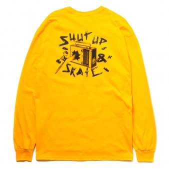 VHSMAG × MXMXM - SHUT UP & SKATE LS TEE