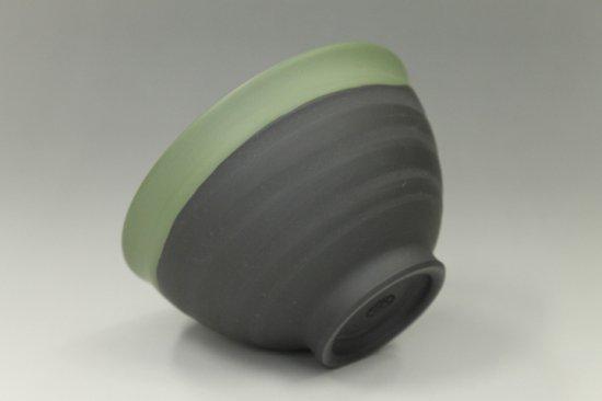 常滑焼黒泥緑襟巻湯呑み