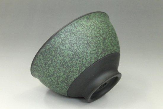 常滑焼黒泥緑彩湯呑み