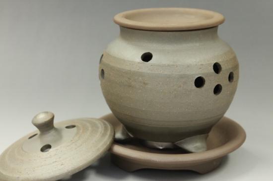 常滑焼焼〆高茶香炉