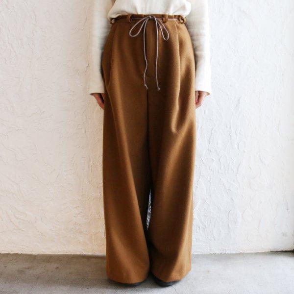 .efiLevol(エフィレボル) / Big Pants With Cord Belt W(ビッグパンツウィズコードベルト)