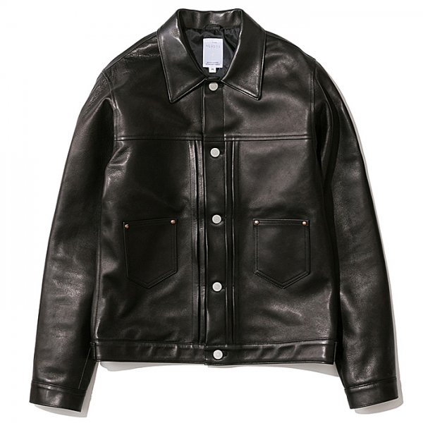 THE NERDYS <br /> LEATHER jean jacket smooth