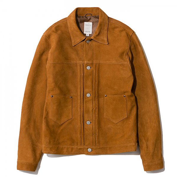 THE NERDYS <br /> LEATHER jean jacket suede