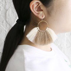 SASAI<br />Threaded Cipher Earrings
