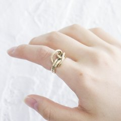SASAI<br /> Musubi ring in Brass