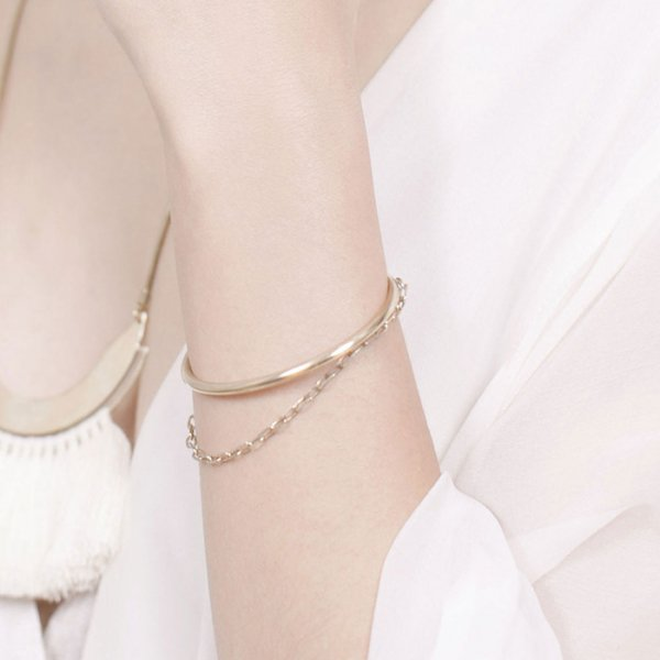SASAI(ササイ) / Chain cuff in Brass
