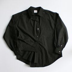 "《BIN別注》EFILEVOL<br />Little Russell Shirt""Black"""