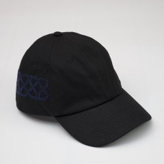 ADISH /DAD HAT SNAKE PATTERN- BLACK (NAVY EMBRO)