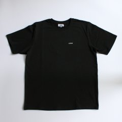 ADISH / LOGO T-SHIRT WITH PRINT AND FLOWER EMBROIDERY- BLACK