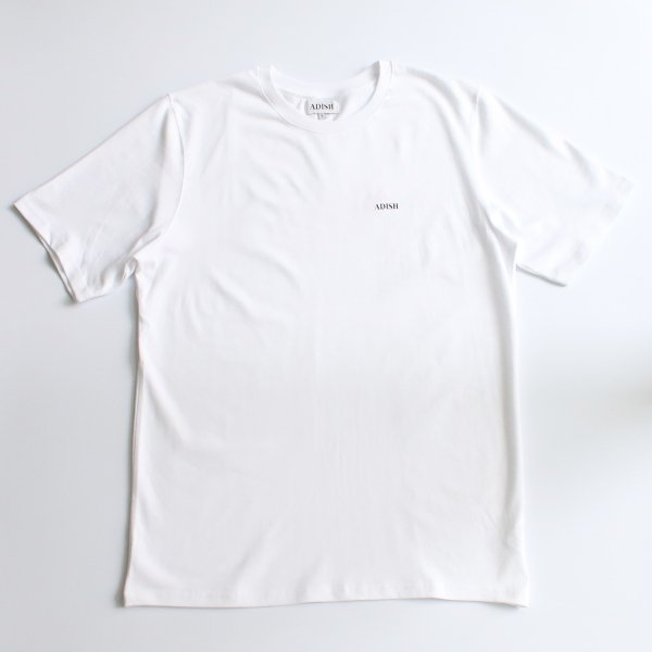 ADISH / LOGO T-SHIRT WITH PRINT AND FLOWER EMBROIDERY- WHITE