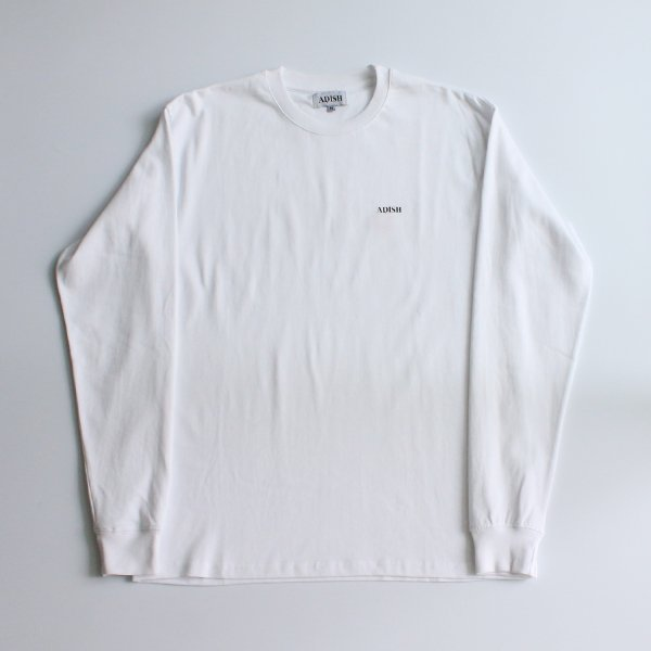 ADISH / LOGO LONG SLEEVE WITH PRINT AND FLOWER EMBROIDERY- WHITE