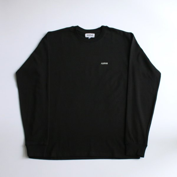 ADISH / LOGO LONG SLEEVE WITH PRINT AND FLOWER EMBROIDERY- BLACK