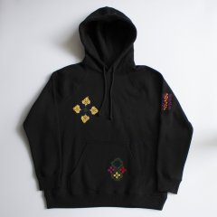 ADISH / ADISH X JORDAN NASSAR MIX EMBROIDERIES HOODIE- BLACK