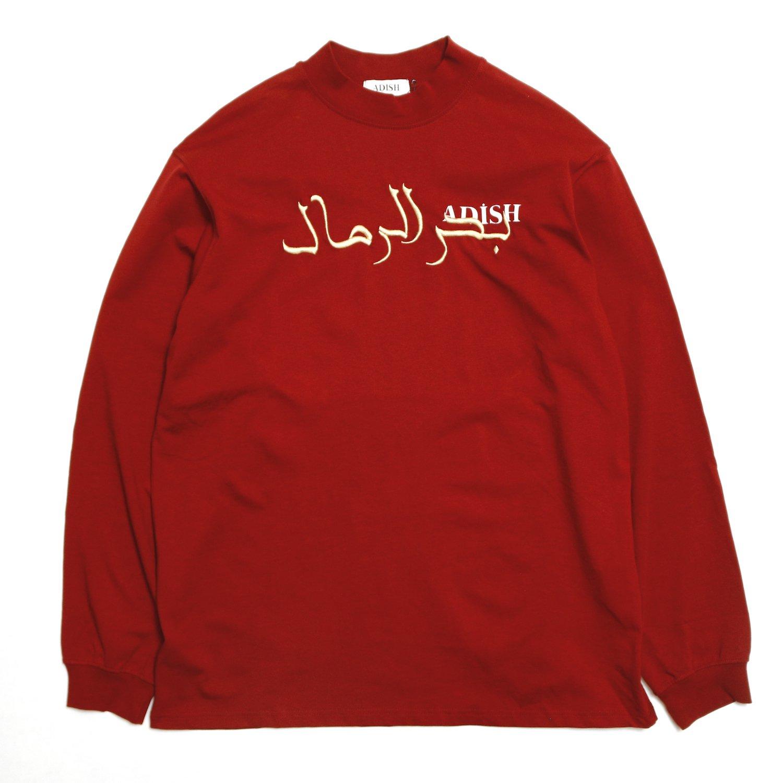 <img class='new_mark_img1' src='https://img.shop-pro.jp/img/new/icons20.gif' style='border:none;display:inline;margin:0px;padding:0px;width:auto;' />ADISHアディッシュ / Long Sleeve Turtleneck Arabic T-Shirt