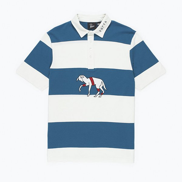 <img class='new_mark_img1' src='//img.shop-pro.jp/img/new/icons8.gif' style='border:none;display:inline;margin:0px;padding:0px;width:auto;' />Parra パラ / striped goat polo shirt