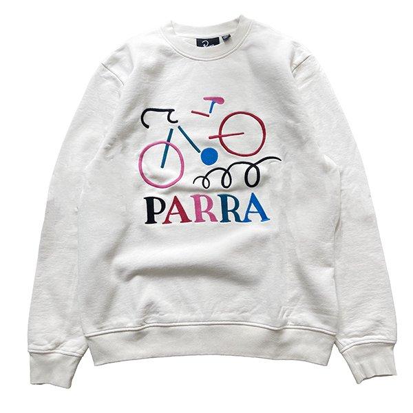 Parra パラ / broken bike crew neck sweatshirt