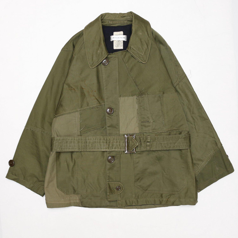 Remake by Yi /   Coat (1953 Korean War US Army Overcoat Cotton OG 107 wool liner)