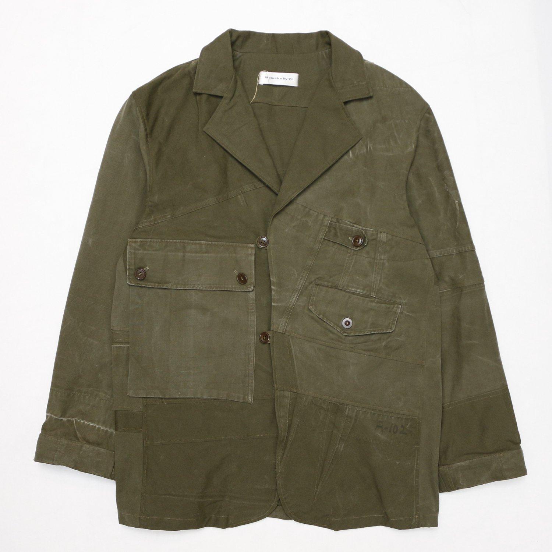Remake by Yi / Blazer Jacket (KL  Seyntex Vintage  Dutch Thick Military Fatigues )