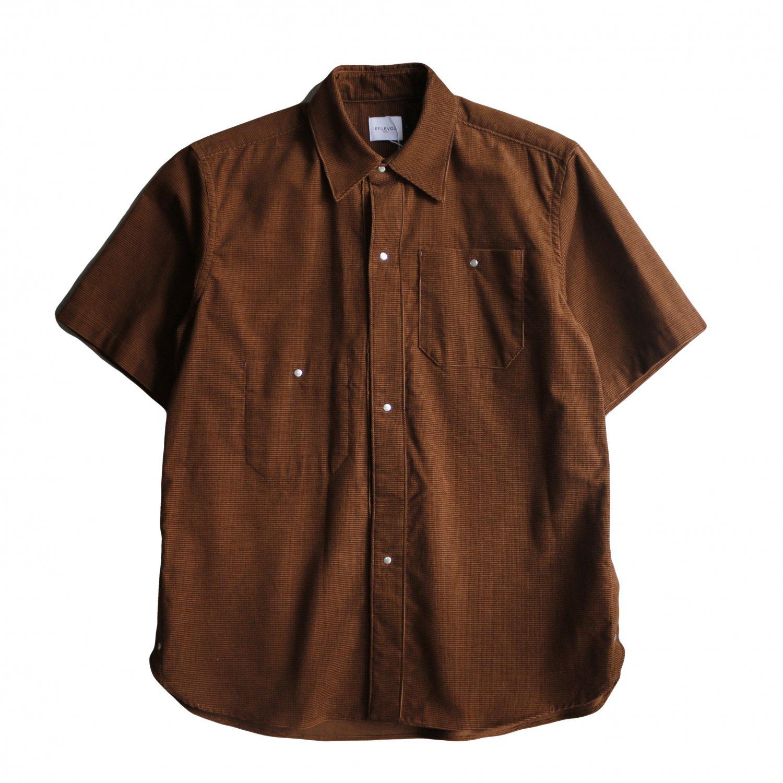 <img class='new_mark_img1' src='https://img.shop-pro.jp/img/new/icons20.gif' style='border:none;display:inline;margin:0px;padding:0px;width:auto;' />EFILEVOL エフィレボル / Dobby Corduroy Short Sleaeve Shirt