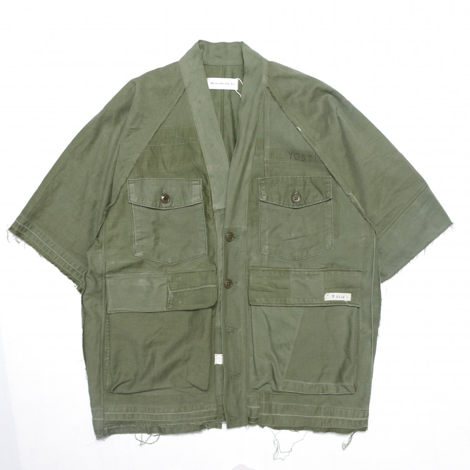 <img class='new_mark_img1' src='https://img.shop-pro.jp/img/new/icons8.gif' style='border:none;display:inline;margin:0px;padding:0px;width:auto;' />Remake by Yi / Noragi Shirt (US ARMY OG-107*2)