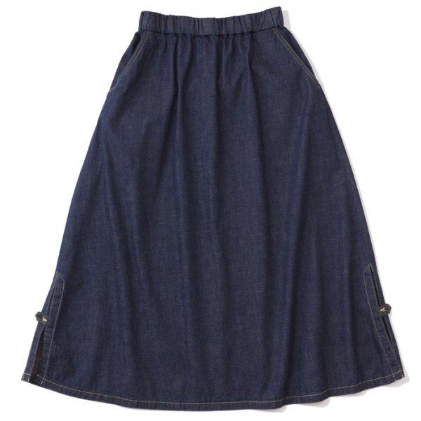 .efiLevol(エフィレボル) / Side Slitted Long Denim Skirt(サイドスリットロングデニムスカート)