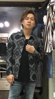PLAYERSTOKYO ペイズリー バンダナ 柄 レギュラー ポリシャツ