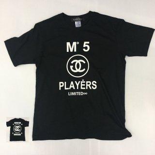 PLAYERSTシャツ3色 限定版 黒色白プリント