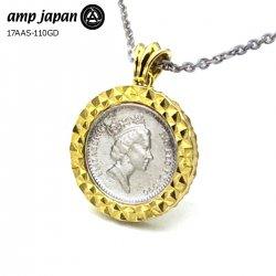 【即日発送】 amp japan/アンプジャパン エリザベス シルバー コインネックレス メンズ シルバー925 17AAS-110GD