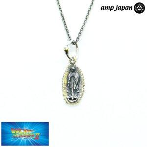 即納 amp japan/アンプジャパン マリア グアダルーペ ネックレス シルバー 燻し加工 あずきチェーン NOAJ-110