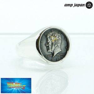 amp japan/アンプジャパン ケネディ コイン モチーフ リング ダイヤ スター 50セント硬貨 Diamond Kennedy 17号 NOAJ-232