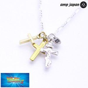 amp japan/アンプジャパン ラテン クロス モチーフ ネックレス キリスト ジャラ付け NOHK-100