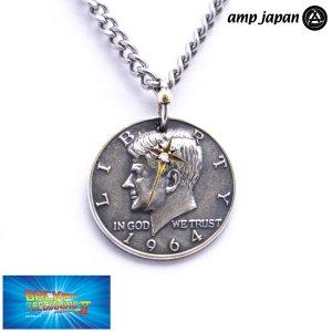 amp japan/アンプジャパン ケネディ コイン モチーフ ネックレス ダイヤモンド 50セント硬貨 Diamond Kennedy NC 'S' NOAJ-133