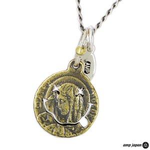 amp japan/アンプジャパン ブラス&シルバー/マリアコインネックレス 11AD-891