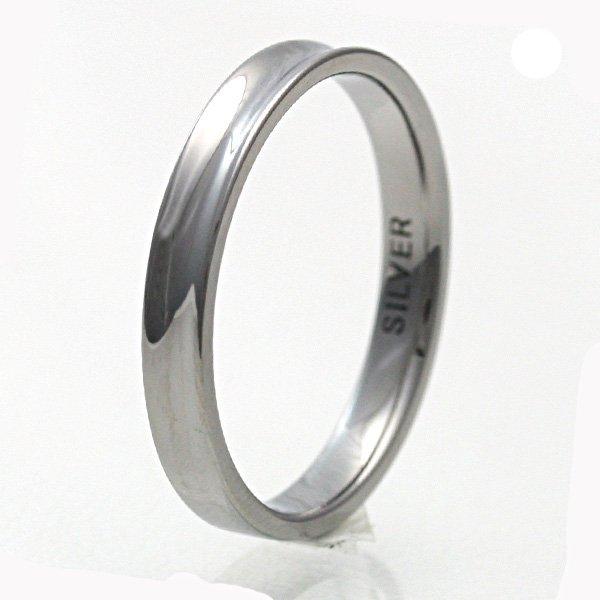 THE KISS/ザ・キッス キス シンプル シルバー リング 平内 指輪 ブラック 黒 メンズ SR1243
