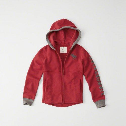 abercrombie kids/キッズ本物正規品!ボーイズ【パーカー】-logo full zip hoodie-