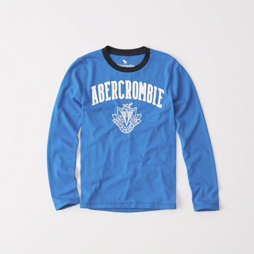 abercrombie kids/キッズ本物正規品!ボーイズ【ロングTシャツ】-long-sleeve logo graphic tee-
