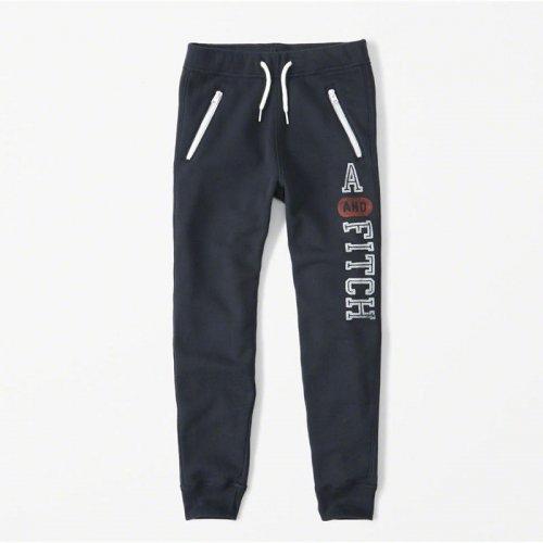 abercrombie kids/キッズ本物正規品!ボーイズ【パンツ】-zipper logo joggers-