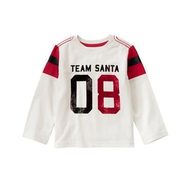 Crazy 8/クレイジーエイト本物正規品!トドラーボーイ【ロングTシャツ】-Team Santa Tee-