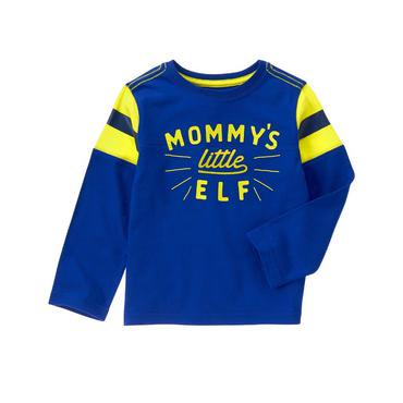 Crazy 8/クレイジーエイト【ロングTシャツ】-Mommy's Little Elf Tee-