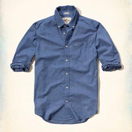 ホリスター本物正規品!メンズ【シャツ】-Iconic Poplin Shirt-