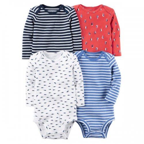 Carter's/カーターズ本物正規品!トドラーボーイ【セット】-4-Pack Long-Sleeve Bodysuits-