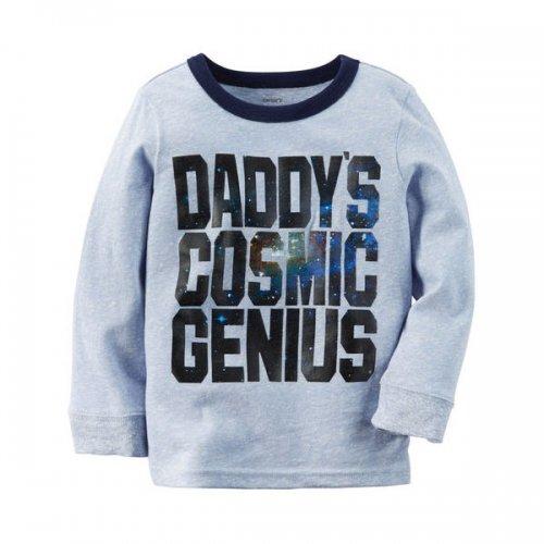 Carter's/カーターズ本物正規品!トドラーボーイ【ロングTシャツ】-Long-Sleeve Cosmic Genius Graphic Tee-