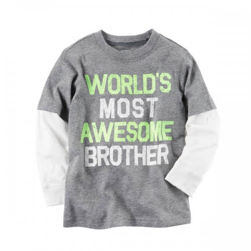 Carter's/カーターズ本物正規品!トドラーボーイ【ロングTシャツ】-Long-Sleeve Layered-Look Awesome Brother Graphic Tee-