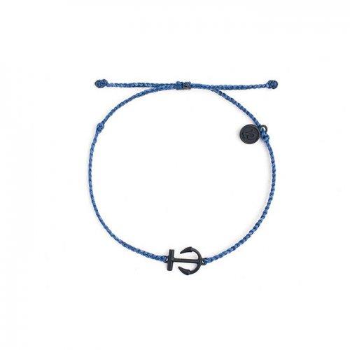 Pura Vida(プラ・ヴィダ)本物正規品!【ブレスレット】-Black Mini Anchor Indigo-