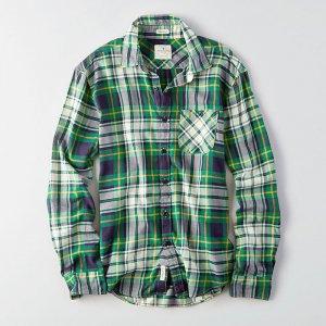 American Eagle Outfitters/アメリカンイーグル本物正規品!メンズ/シャツ-AEO CLASSIC PLAID SHIRT-
