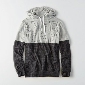American Eagle Outfitters/アメリカンイーグル本物正規品!メンズ/Tシャツ-AEO COLORBLOCK GRAPHIC HOODIE T-SHIRT-