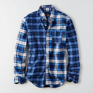 American Eagle Outfitters/アメリカンイーグル本物正規品!メンズ/シャツ-AEO PATCHWORK OXFORD SHIRT-